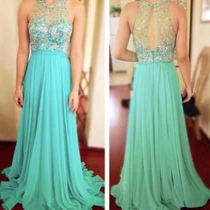 Sexy Prom Dress, Turquoise Blue Pro..
