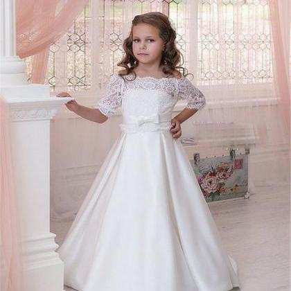 White Flower Girl Dress, Flower Gir..