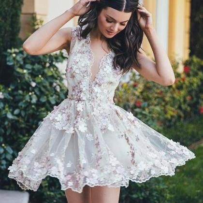 Floral Homecoming Dress, Short Home..