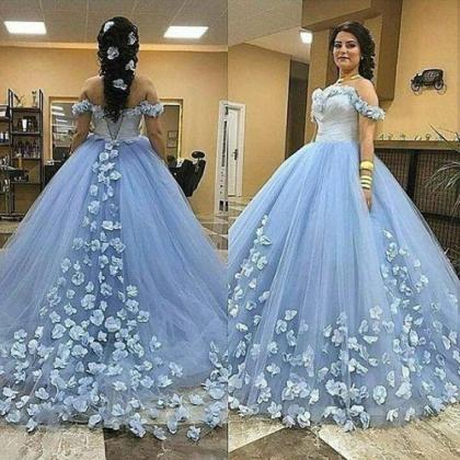 light blue ball gown prom dresses 2..