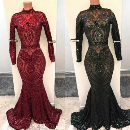 sparkly sexy formal dresses long sl..