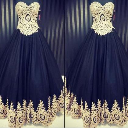 Ostrich Applique Prom Dress, Black ..