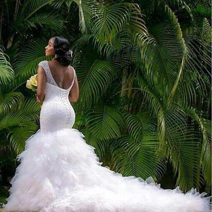 Mermaid Wedding Dress, Elegant Wedd..