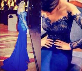 Royal Blue Evening D..