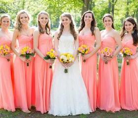 Coral Colored Brides..