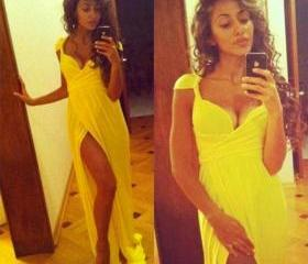 Yellow Sexy Formal D..