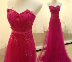 Fuchsia Prom Dress, ..