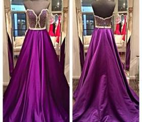 Purple Prom Dress, E..