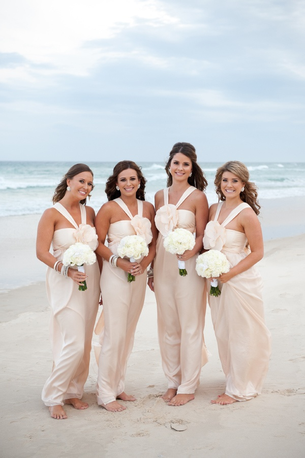 Charming Champagne Bridesmaid Dress, Long Bridesmaid Dress, Halter Bridesmaid Dress,  Dresses For Beach Party, Cheap Bridesmaid Dress, Chiffon Bridesmaid Dress,  ...