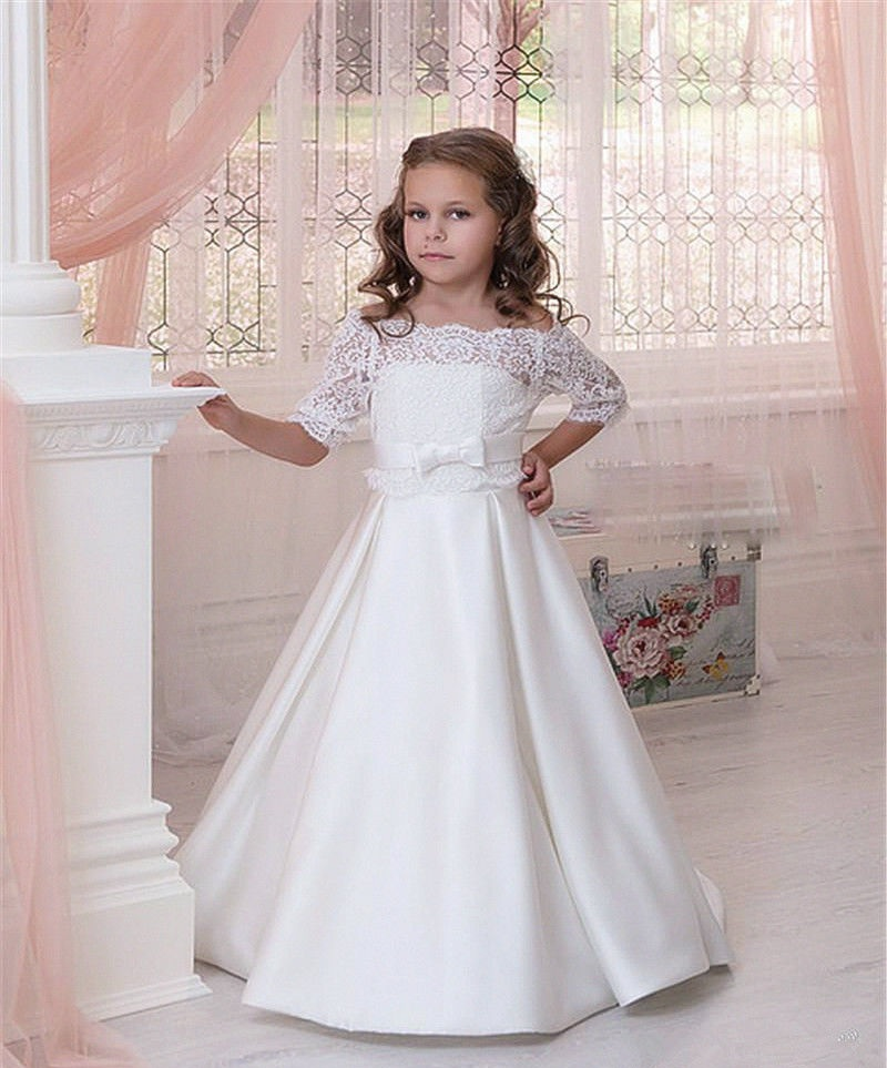 Flower Girl Dresses For Garden Weddings: White Flower Girl Dress, Flower Girl Dresses For Weddings