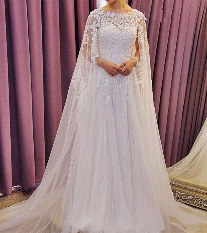 Dress Dubai Caftan White Wedding Dresses 2018 Vestido De Novia Elegant Custom Make