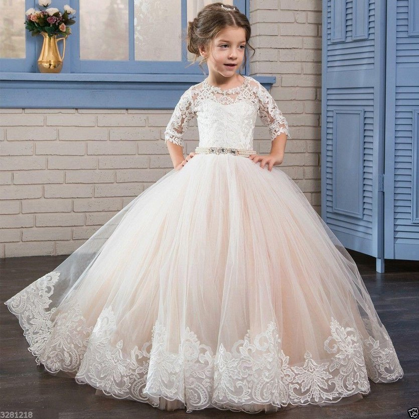 8f013b81ab0 Pale Pink Flower Girl Dress