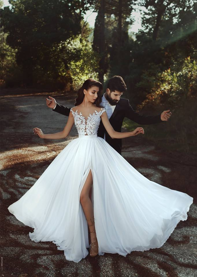 Chiffon Beach Wedding Dress 245602787deb