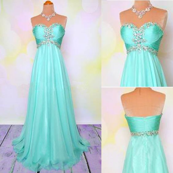 turquoise blue beaded prom dresses long chiffon sweetheart elegant cheap prom gowns vestidos de fiesta 2021