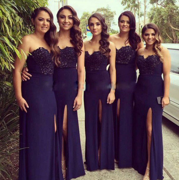 Navy Blue Bridesmaid Dress 5840e5648f58