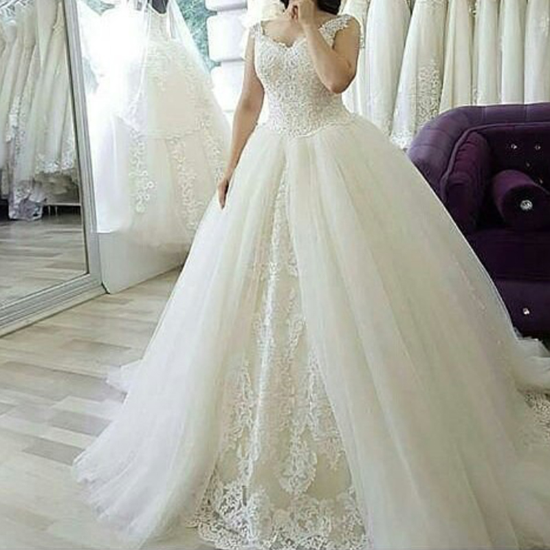 9d8b66f0efb V Neck Wedding Dress