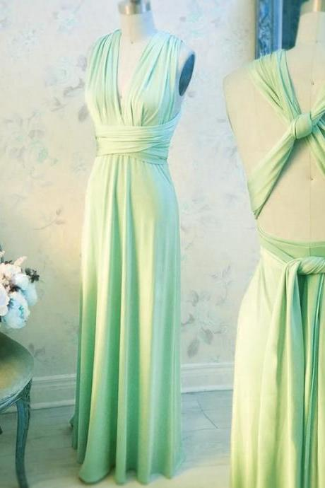 Mint Green Bridesmaid Dress, Long Bridesmaid Dress, Bridesmaid Dresses For Women, Wedding Guest Dresses, Cheap Bridesmaid Dress, Bridesmaid Dresses 2017, Chiffon Bridesmaid Dress