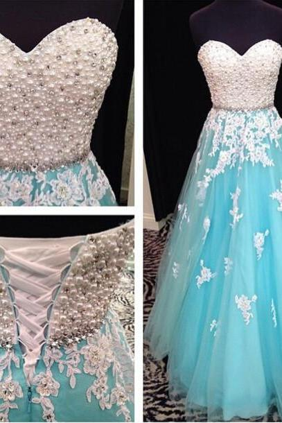 Blue Prom Dress, Lace Applique Prom Dress, A Line Prom Dress, Beaded Prom Dress, Elegant Prom Dress, Real Photo Prom Gown, Vestido De Longo, Cheap Prom Dress, Prom Gowns 2017