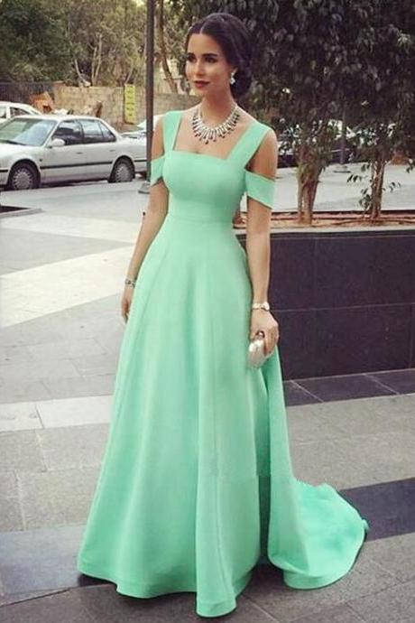 Off the Shoulder Prom Dress, Mint Green Prom Dress, Chiffon Prom Dress, A Line Prom Dress, Elegant Prom Dress, Prom Dresses 2018, Vestido De Longo De Festa, Cheap Prom Dress, Women Formal Dresses