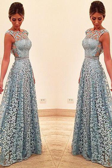 Blue Prom Dress, Lace Prom Dress, A Line Prom Dress, Elegant Prom Dress, Sleeveless Prom Dress, Prom Dresses 2018, Vestido De Festa De Longo, Cheap Prom Dress, Prom Dresses for Women, Floor Length Prom Dresses