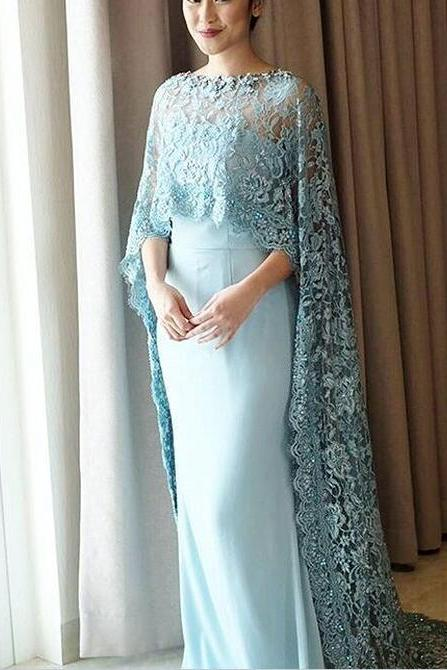 Light Blue Evening Dress, Dubai Kaftan, Lace Evening Dress, Elegant Evening Dress, Mermaid Evening Dress, Muslim Evening Dress, Elegant Evening Dress, Women Formal Dress, Saudi Arabic Prom Dress, Evening Dresses 2018