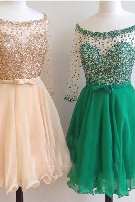Short Prom Dress, Beaded Prom Dress, Half Sleeve Prom Dress, Cheap Graduation Dresses, Prom Dresses 2018, Cocktail Party Dresses, A Line Prom Dress, Sexy Prom Dress