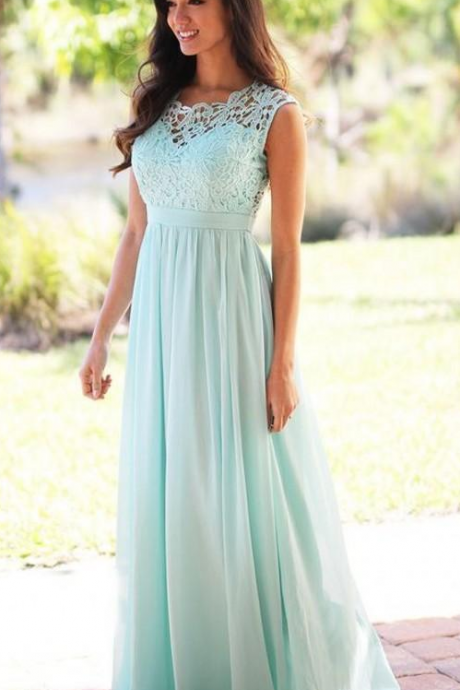 Light Blue Bridesmaid Dress, Bridesmaid Dresses Long, Lace Bridesmaid Dress, Bridesmaid Dresses 2018, Chiffon Bridesmaid Dress, Custom Make Bridesmaid Dress, A Line Bridesmaid Dress, Wedding Party Dress