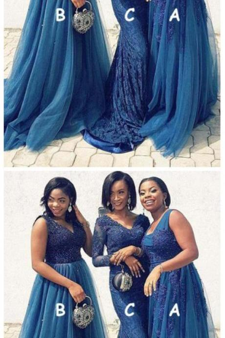 Mismatched Bridesmaid Dress, Lace Bridesmaid Dress, Bridesmaid Dresses 2019, African Bridesmaid Dresses, Bridesmaid Dresses Long, Custom Bridesmaid Dresses, Bridesmaid Dresses for Weddings