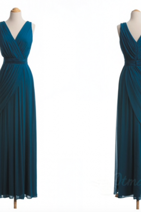 teal blue bridesmaid dresses long chiffon cheap custom elegant wedding party dresses 2020