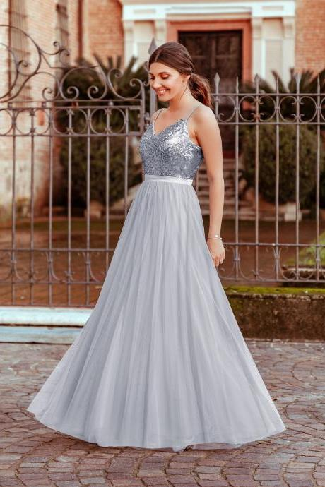 silver bridesmaid dress, bridesmaid dresses long, wedding party dress, robe de soiree, 2020 bridesmaid dresses, cheap bridesmaid dress, wedding guest dresses, robe de soiree, custom bridesmaid dress