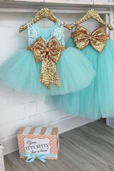 turquoise blue toddle little girl dresses 2020 gold sequin cute birthday party dresses for baby girls cheap flower girl dresses for weddings
