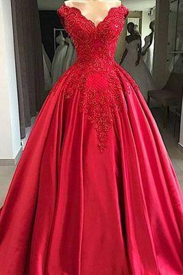 ball gown prom dresses v neck off the shoulder lace applique elegant prom dresses vestido de festa de longo