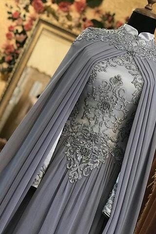 vintage prom dresses long sleeve high neck lace applique beaded chiffon elegant arabic prom gowns vestido de longo