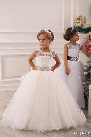 White Flower Girl Dresses, Puffy Cute Little Girl Dresses, Cheap Flower Girl Dress, Tulle Flower Girl Dress, Lace Flower Girl Dress, Cheap Dresses For Kids, Toddle Litter Girl Dresses, Pageant Girl Dress 2016