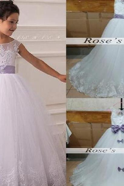 White Tulle Flower Girl Dress, Cheap Flower Girl Dresses, Puffy Flower Girl Dress, Kids Prom Dresses, Lace Flower Girl Dress For Weddings, Toddler Little Girl Dresses, Flower Girl Dresses 2016