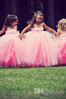 Pink Flower Girl Dresses, Tiered Flower Girl Dresses, Toddle Little Girl Dresses, Cute Flower Girl Dresses, Puffy Flower Girl Dresses, Pageant Little Girl Dresses 2017