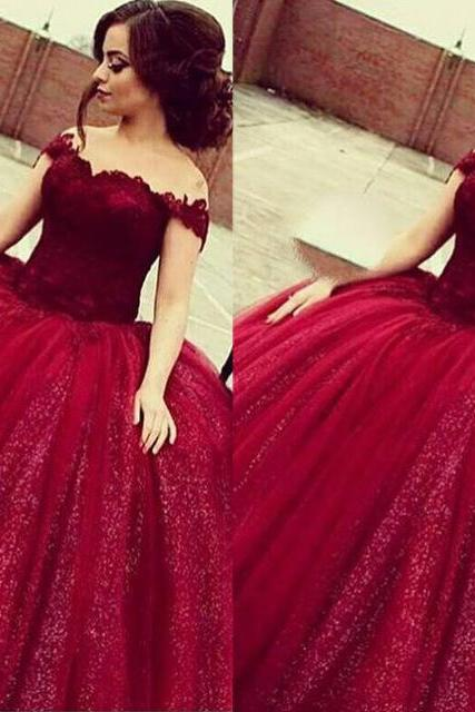 Bling Wedding Dress, Wine Red Wedding Dress, Princess Wedding Dress, Lace Wedding Dress, Elegant Wedding Dress, V Neck Wedding Dress, Bridal Ball Gowns