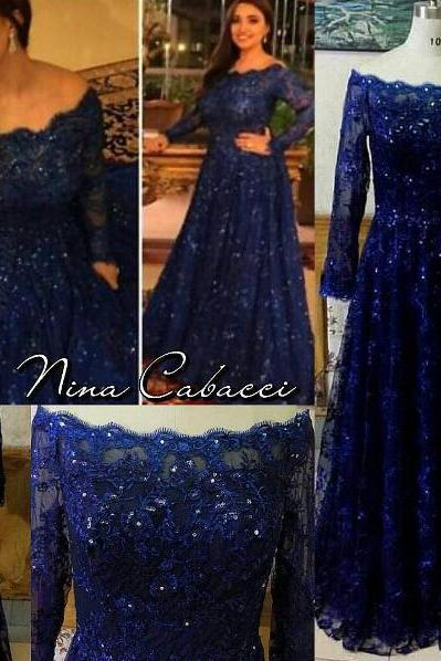Royal Blue Prom Dress, A Line Prom Dress, Lace Prom Dress, Prom Dresses 2017, Rhinestones Prom Dress, Cheap Prom Dress, Prom Dresses 2017, Long Prom Dresses