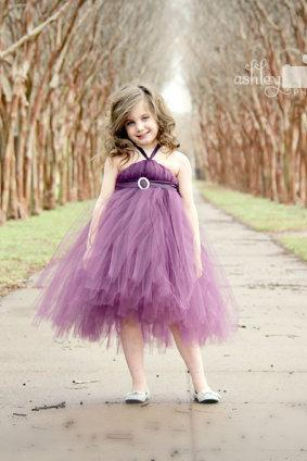 Toddle Dresses For Little Girls, Tulle Flower Girl Dresses, Purple Flower Girl Dresses, First Communion Dresses 2016, Cheap Flower Girl Dresses