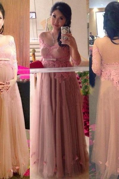 Pregnant Prom Dresses, Long Prom Dresses, Pink Prom Dresses, Lace Prom Dress, Plus Size Prom Dress, Elegant Prom Dress, Backless Prom Dress