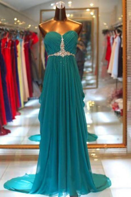 Mermaid Evening Dress, Green Evening Dress, Long Evening Dress, Green Evening Dress, Rhinestones Evening Dress, Cheap Evening Dress, Formal Party Dresses, Women Formal Dresses