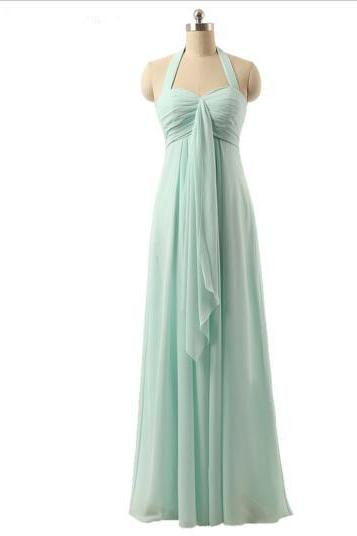 Mint Green Bridesmaid Dress, Long Bridesmaid Dress, Cheap Bridesmaid Dress, Chiffon Bridesmaid Dress, A Line Bridesmaid Dress, Pregnant Bridesmaid Dress, Plus Size Bridesmaid Dress