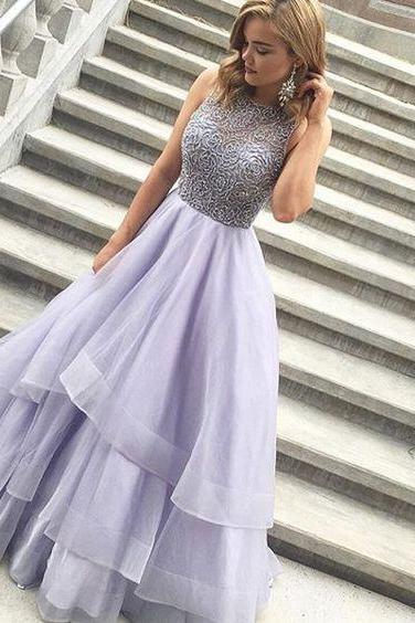 Purple Prom Dress, Rhinestones Prom Dress, Tulle Prom Dress, A Line Prom Dress, Floor Length Prom Dress, Elegant Prom Dress, Cheap Prom Dress, Prom Dresses 2017, Vestido De Festa, Beaded Prom Dress, Cheap Graduation Dresses