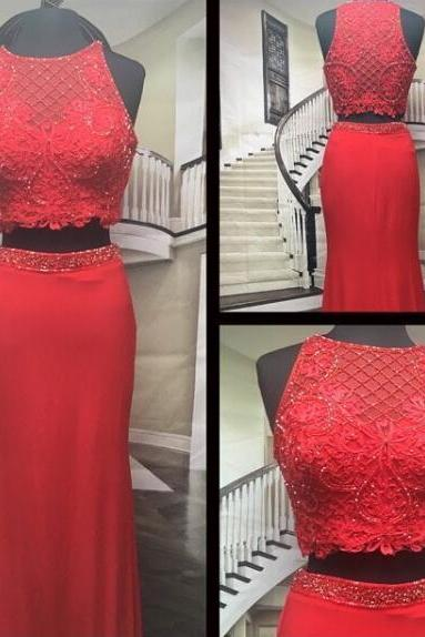 Red Prom Dresses, Beaded Prom Dress, Elegant Prom Dress, Mermaid Prom Dress, Peals Prom Dress, Long Prom Dress, Prom Dresses 2017, Vestido De Festa, Sexy Prom Dress, Prom Dresses 2017
