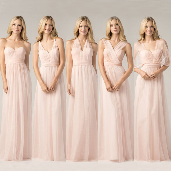 Pink Bridesmaid Dress, Convertible Bridesmaid Dress, Bridesmaid Dresses 2019, Wedding Party Dress, Cheap Bridesmaid Dress, Custom Make Bridesmaid Dresses