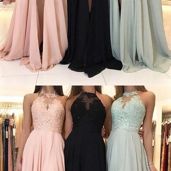 Chiffon Prom Dress, Halter Prom Dress, Lace Prom Dress, A Line Prom Dress, Prom Dresses Long, Sexy Prom Dresses, Vestido De Festa, Cheap Prom Dress