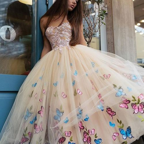 Champagne Prom Dress, Puffy Prom Dress, Prom Dresses 2019, Cheap Prom Dress, Vestido De Festa, Cute Prom Dress, Prom Dresses for Girl, Sweet 16 Dresses, Lace Prom Dresses