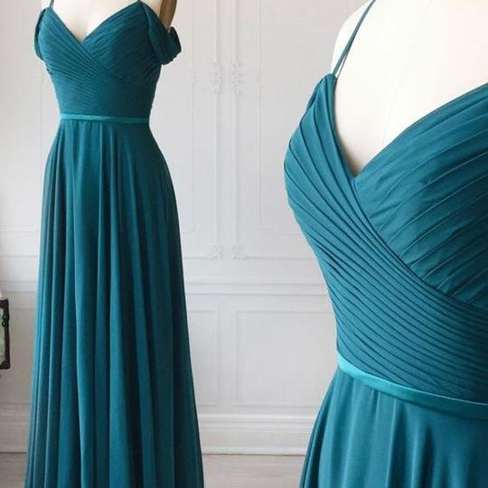 teal blue long bridesmaid dresses 2020 chiffon cheap a line custom elegant wedding party dress vestido de longo