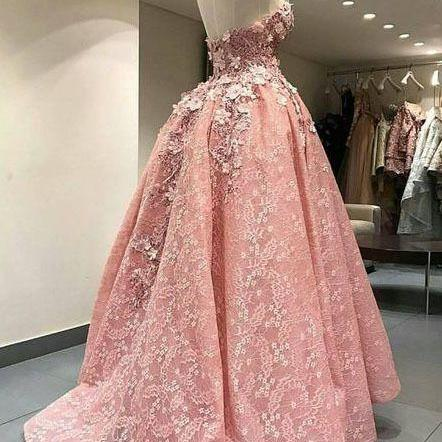 lace applique pink prom dresses long floral sweetheart neck elegant cheap prom gown vestido de festa 2021