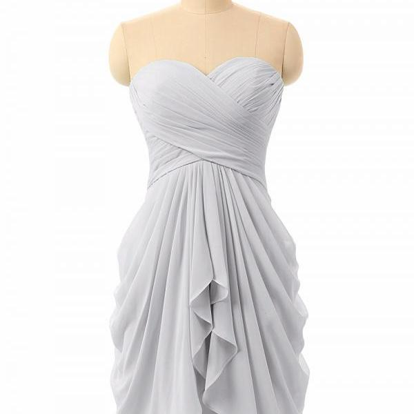 silver bridesmaid dresses short chiffon mint green custom pleated cheap wedding guest dresses 2021